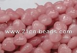 CAS14 15.5 inches 8*8mm heart pink angel skin gemstone beads