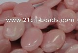 CAS22 15.5 inches 18*25mm oval pink angel skin gemstone beads