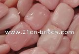 CAS29 15.5 inches 13*18mm rectangle pink angel skin gemstone beads