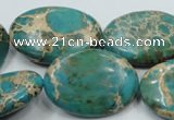 CAT10 15.5 inches 22*30mm oval natural aqua terra jasper beads