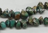 CAT5019 15.5 inches 8*12mm nuggets natural aqua terra jasper chip beads