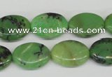 CAU17 12*16mm flat oval australia chrysoprase beads Wholesale