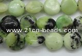 CAU201 15.5 inches 12mm flat round Australia chrysoprase beads