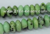 CAU220 15.5 inches 6*12mm rondelle Australia chrysoprase beads