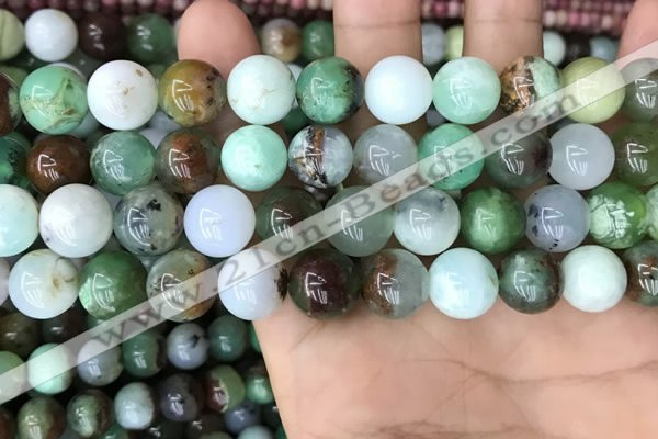 CAU438 15.5 inches 12mm round Australia chrysoprase beads wholesale