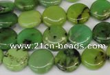 CAU54 15.5 inches 12mm flat round Australia chrysoprase beads wholesale