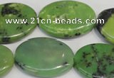 CAU66 15.5 inches 22*30mm oval Australia chrysoprase beads