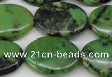 CAU67 15.5 inches 18*25mm oval Australia chrysoprase beads