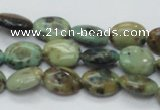 CAZ03 15.5 inches 10*14mm oval natural azurite gemstone beads