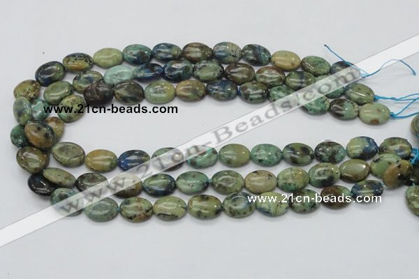 CAZ04 15.5 inches 12*16mm oval natural azurite gemstone beads
