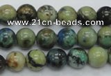 CAZ09 15.5 inches 10mm round natural azurite gemstone beads