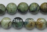 CAZ11 15.5 inches 14mm round natural azurite gemstone beads
