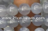 CBC719 15.5 inches 6mm round blue chalcedony gemstone beads