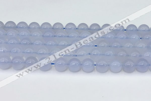 CBC818 15.5 inches 10mm round blue chalcedony gemstone beads