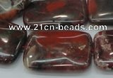 CBD09 15.5 inches 22*30mm rectangle brecciated jasper gemstone beads