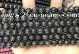 CBJ558 15.5 inches 6mm round black jade beads wholesale