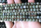 CBJ701 15.5 inches 6mm round green jade beads wholesale
