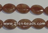 CBQ21 15.5 inches 12*16mm oval strawberry quartz beads wholesale
