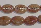 CBQ22 15.5 inches 13*18mm oval strawberry quartz beads wholesale
