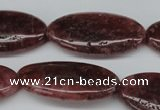 CBQ285 15.5 inches 20*40mm oval strawberry quartz beads