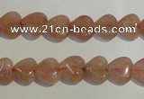 CBQ34 15.5 inches 10*10mm heart strawberry quartz beads wholesale