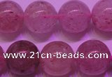CBQ404 15 inches 12mm round natural strawberry quartz beads