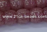 CBQ443 15.5 inches 13*18mm rondelle strawberry quartz beads