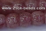 CBQ444 15.5 inches 15*20mm rondelle strawberry quartz beads