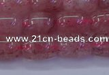 CBQ447 15.5 inches 10*14mm drum strawberry quartz beads