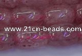 CBQ449 15.5 inches 13*18mm drum strawberry quartz beads