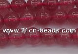 CBQ487 15.5 inches 8mm round strawberry quartz beads wholesale
