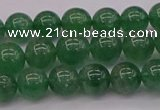 CBQ496 15.5 inches 6mm round green strawberry quartz beads