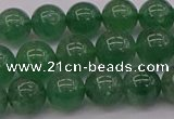 CBQ497 15.5 inches 8mm round green strawberry quartz beads
