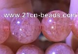 CBQ562 15.5 inches 12mm round golden strawberry quartz beads