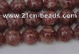 CBQ603 15.5 inches 10mm round natural strawberry quartz beads