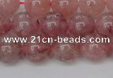 CBQ615 15.5 inches 14mm round natural strawberry quartz beads
