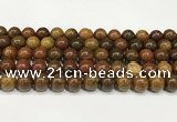 CBQ738 15.5 inches 10mm round natural chrysotine beads wholesale