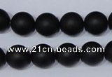 CBS05 15.5 inches 12mm round black stone beads wholesale