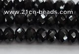 CBS515 15.5 inches 5*7mm faceted rondelle AA grade black spinel beads