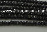 CBS531 15.5 inches 1.5*2.5mm faceted rondelle black spinel beads