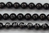 CBS551 15.5 inches 6mm round AA grade black spinel beads