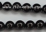 CBS552 15.5 inches 8mm round AA grade black spinel beads