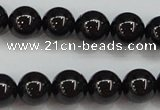 CBS553 15.5 inches 10mm round AA grade black spinel beads