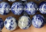 CBS602 15.5 inches 8mm round blue spot stone beads wholesale