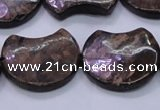 CBZ112 15.5 inches 20*24mm curved moon bronzite gemstone beads