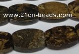 CBZ429 15.5 inches 15*20mm flat drum bronzite gemstone beads