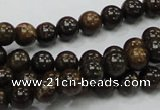 CBZ50 15.5 inches 8mm round bronzite gemstone beads wholesale