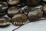 CBZ56 15.5 inches 13*18mm oval bronzite gemstone beads wholesale