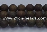 CBZ601 15.5 inches 6mm round matte bronzite beads wholesale