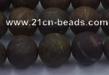 CBZ605 15.5 inches 12mm round matte bronzite beads wholesale